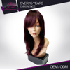 Luxury Elegance Customize Color Red Human Hair Wig Skin Top Wig Distributor