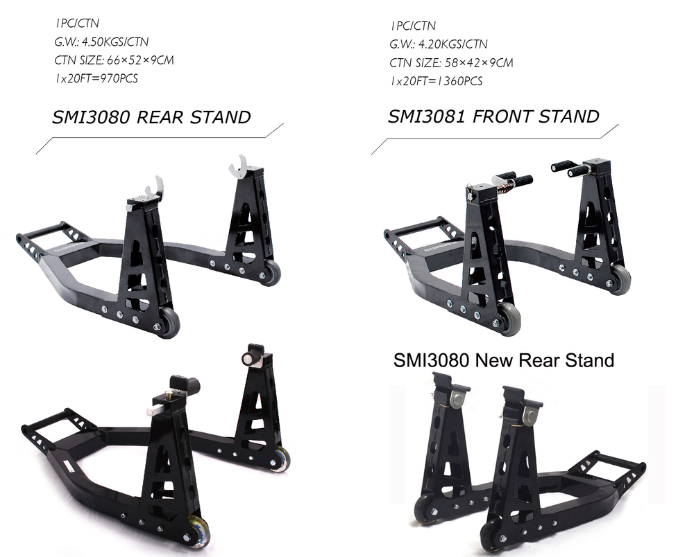 SMI3080 Aluminum light weighted strong designed Motorcycle Paddock stand
