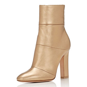 china supplier gold leather lady boots 2018