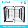 chain link type pet dog enclosure with gate