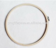 New products wholesale round bamboo embroidery hoop in needlework for promotional gifts made in china