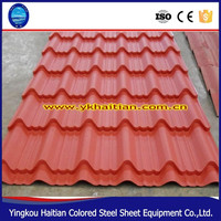 China most professional Galvanized Steel colorful Coated Metal Roof Tile, Cheap Waterproof roof sheets prices