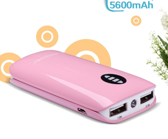 Funny power bank case 5000mah online wholesale for mobile phone and laptop with dual USB output!