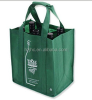 Foldable pp / pet nonwoven fabric used make tote wine bottle bag