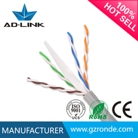 4 pair utp cat6 network cable 305m cat6 utp cable roll 24awg cca