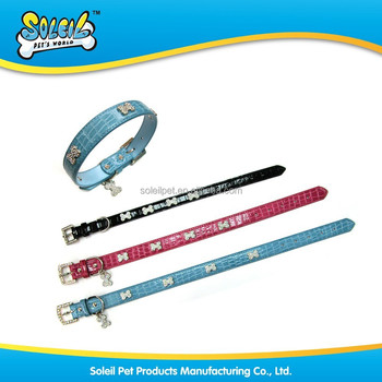 Wholesale High Quality PU Leather Dog Collar With Different Sizes
