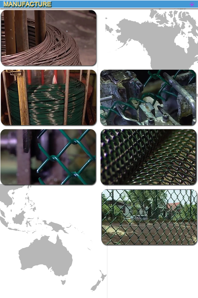 Heavy Duty Decorative Chain Link Fence