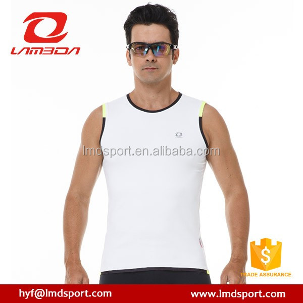 printed white sports cooling mens safety vest