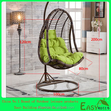 outdoor furniture double seats rattan egg hanging chair nest swing