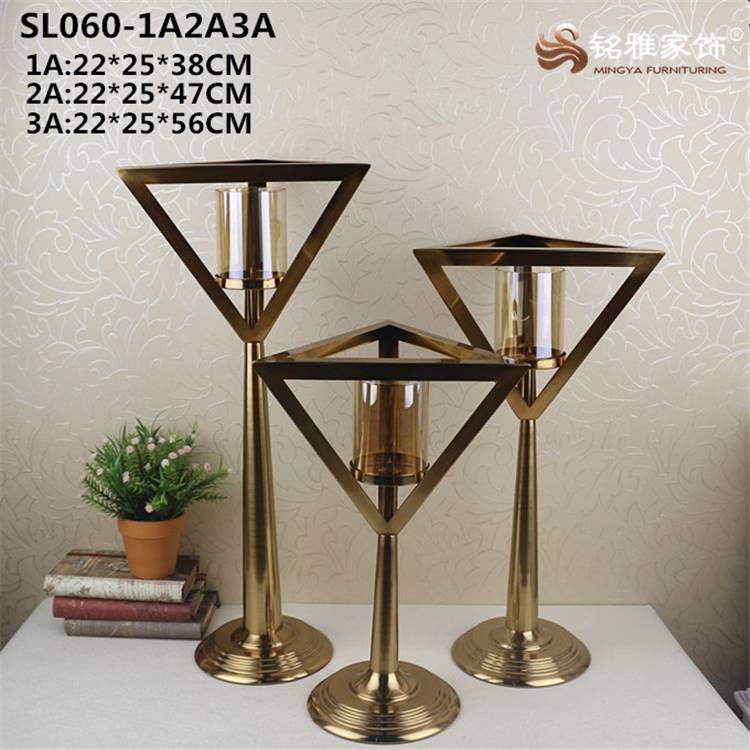 Bar pub decorative item metal base glass tealight candle holders
