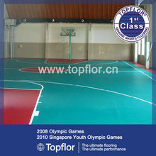 Indoor basketball court/ gym flooring / synthetic sports flooring surfaces