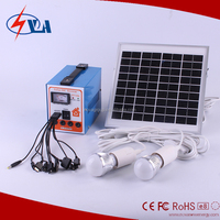 mini projects solar power systems with bulbs, mobile charger, fan and radio