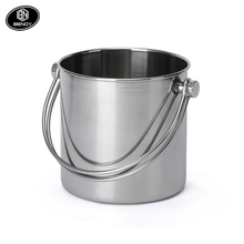 2L Stainless Steel Ice Bucket with Handle Strainer Ice Tong