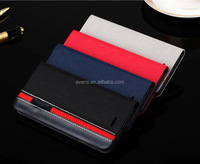 Contrast color Fashion PU Leather Wallet Flip Mobile Phone Case Cover For Nokia 210
