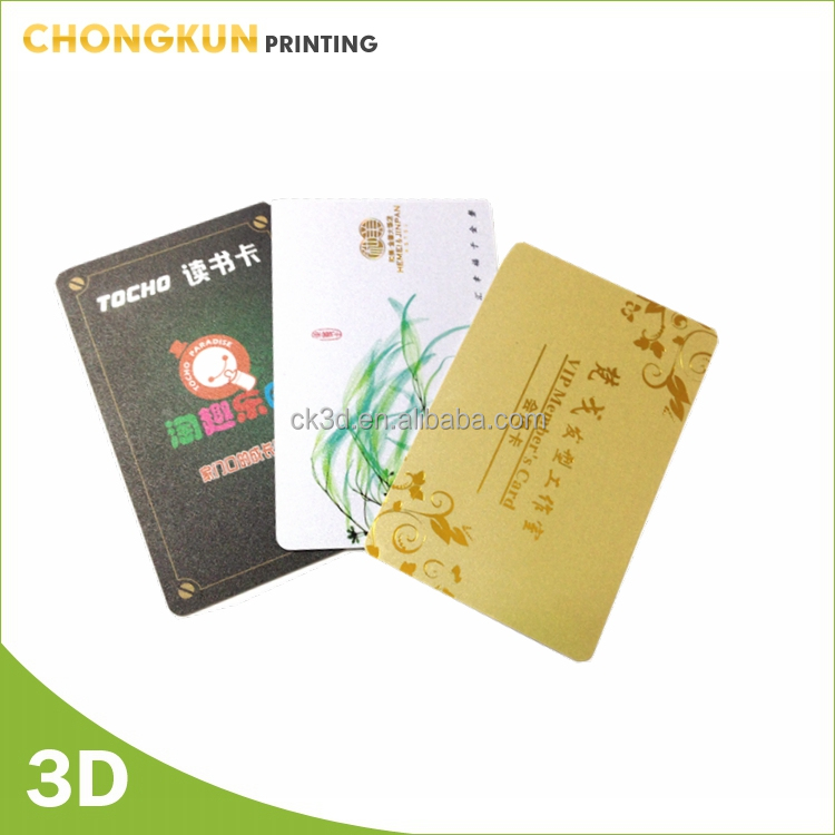 plastic id card printed pvc cards with holographic and foil effect