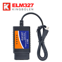 OBD SCAN Read diagnostic trouble codes 16pin obd2 ELM327 USB V1.5 scanners usb cable obd2