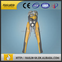 HS-062 PP and TPR handles Pliers Carbon Steel PVC Handle Insulated Black Finish Cable Stripper And Cutter Wire Stripper Tool