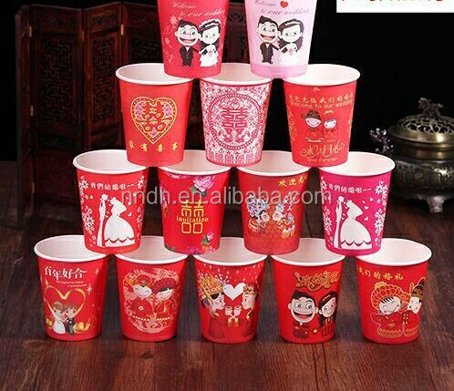 5oz offset printing single wall PE coated paper cup for cold/hot drinking