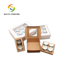 Wholesale Custom Paper Cupcake Box (1 to 12 cups) cupcake packaging gift box suppliers