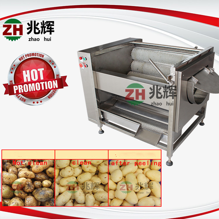 factory supply automatic tomato avocado vegetables washing and peeling machine passion fruit cleaning machine