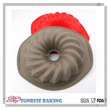 9 inch durable silicone round shaped bread baking mold cake molds with handle