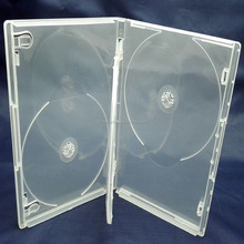 4 discs multi plastic transparent DVD Cases plastic dvd cover with one tray
