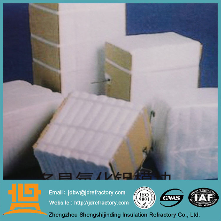 Non-brittleness material and good flexibility refracory raw ceramic fiber wool block ceramic fiber module 12 biology