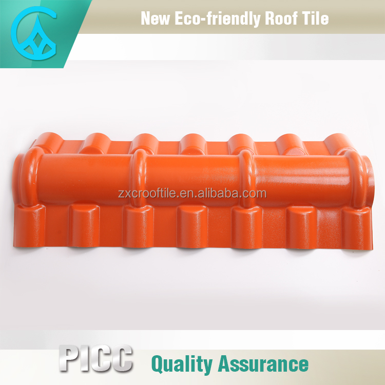 asa coated Fire Retardant synthetic resin Roof Top Ridege Tile