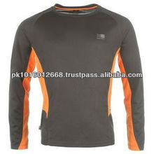 Sell one like this Mens Karrimor Long Sleeve Running Shirt Top Charcoal Grey Orange