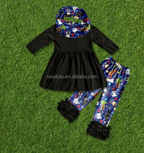 Fall boutique girl clothing halloween outfits for girls children clothes set autumn 2016