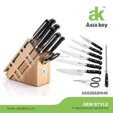 9 pcs Knife Set of Kitchen Knives With ABS and SS430 Handle