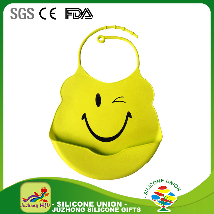 High Quality FDA Food Grade Silicone Baby Bib For Kids