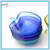 Toping Sales Apple Shaped Cheap Fancy Decorative Colored Glass Salad Bowl