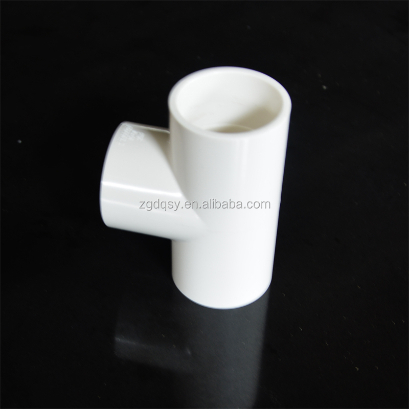 Factory Wholesale Price PVC fittings Equal Tee for Water Supply Pipe 90mm