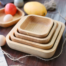 Wholesale Wooden square <strong>plate</strong> Natural solid ash wood <strong>plates</strong> serving tray Disposable tableware