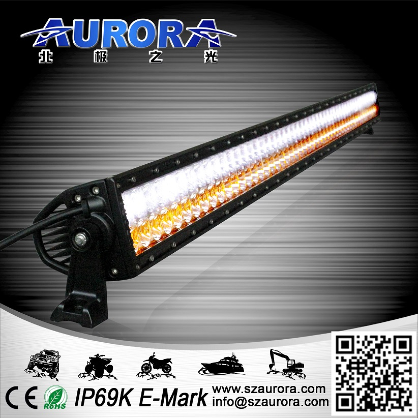 Aurora 50inch 300W pass over 10 certificates two color led light bar parts off road