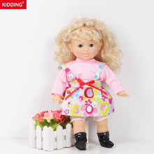 Hot sale 13.7inch/35cmgirl dolls toy with Powder and color skirt