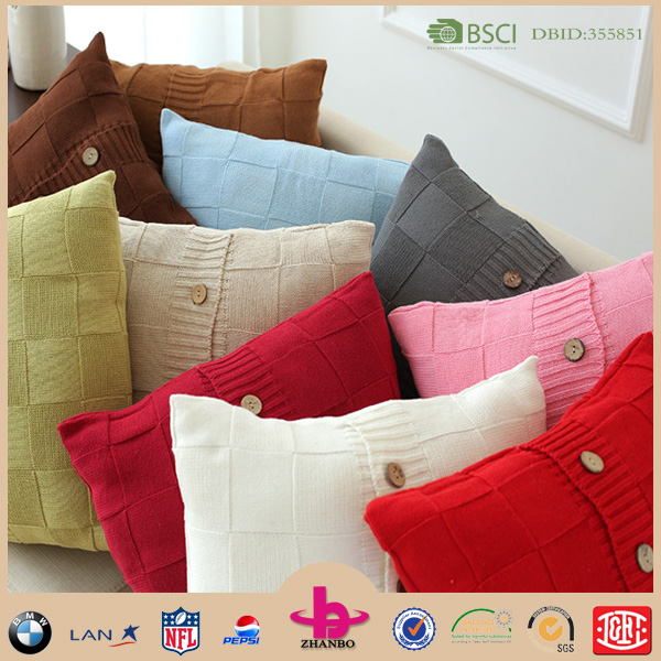 2016 hotsale factory direct custom made sofa knitted cushion cover for office chair