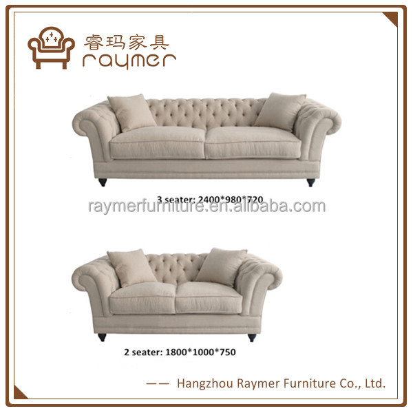 living room classic tufted chesterfield sofa 3+2