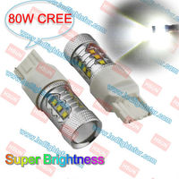 80W High Power Led Chip With Led Lens Drive 6000K Super White T20 7440 W21W Auto Led Light