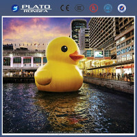 Inflatable yellow Rubber Duck for display