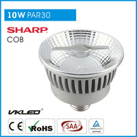 Dimmable led track lighting PAR30 36 degree 5000K 10w led Halo Spot LED Bulb E27