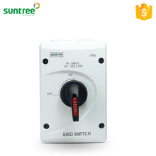 SISO-40 IP66 Waterproof DC 600V Electric Type of Isolator Electric Switches for Solar PV System