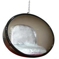 hollow acrylic bubble chair sphere hanging acrylic chair sphere
