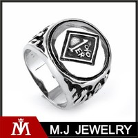 2015 jewelry mens gothic stainless steel punk souvenir rings