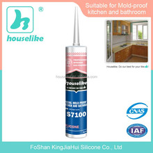S7100 Bathroom & Kitchen Weatherproof Antifugus Silicone Sealant