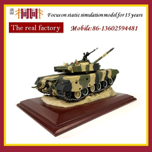 Metal tank production model car