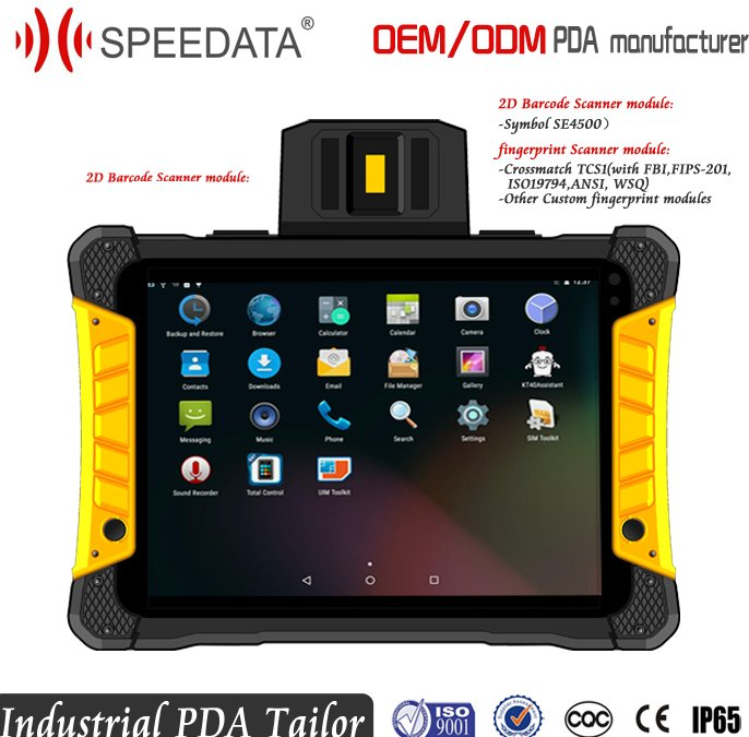 8inch LPS Touch Screen Rugged Tablet PC Android with Capacitive fingerprint Reader and 2D Barcode Scanner