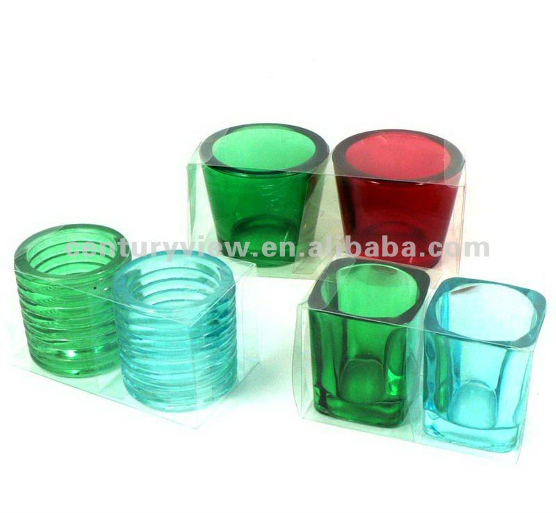 Wholesale Cheap Colored Round And Square Glass Tea Light