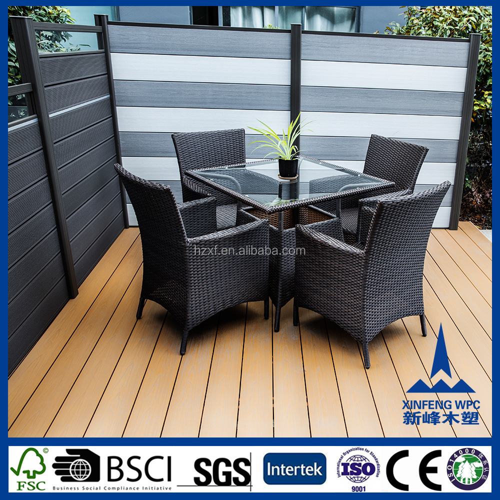 Durable waterproof plastic bamboo fence panels, non-deforming plastic garden fence panels
